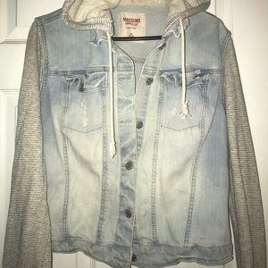 Mossimo hooded jean jacket